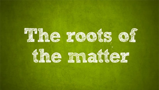 The roots of the matter